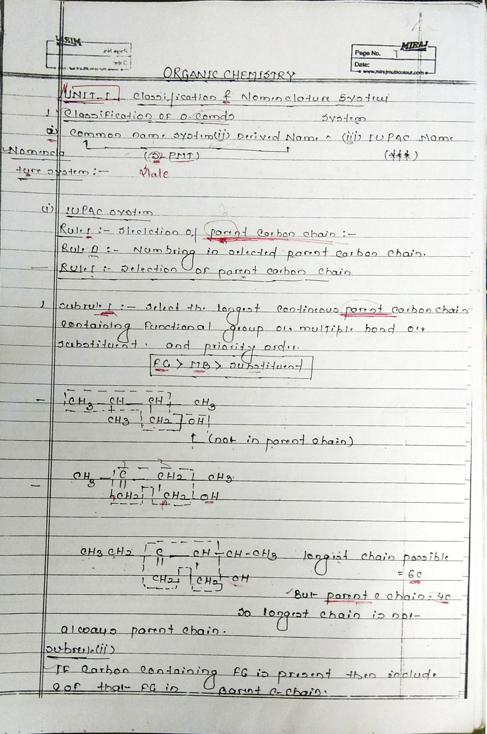 Organic Chemistry Notes