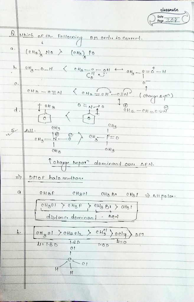 chemical bonding Dipole moment (6)