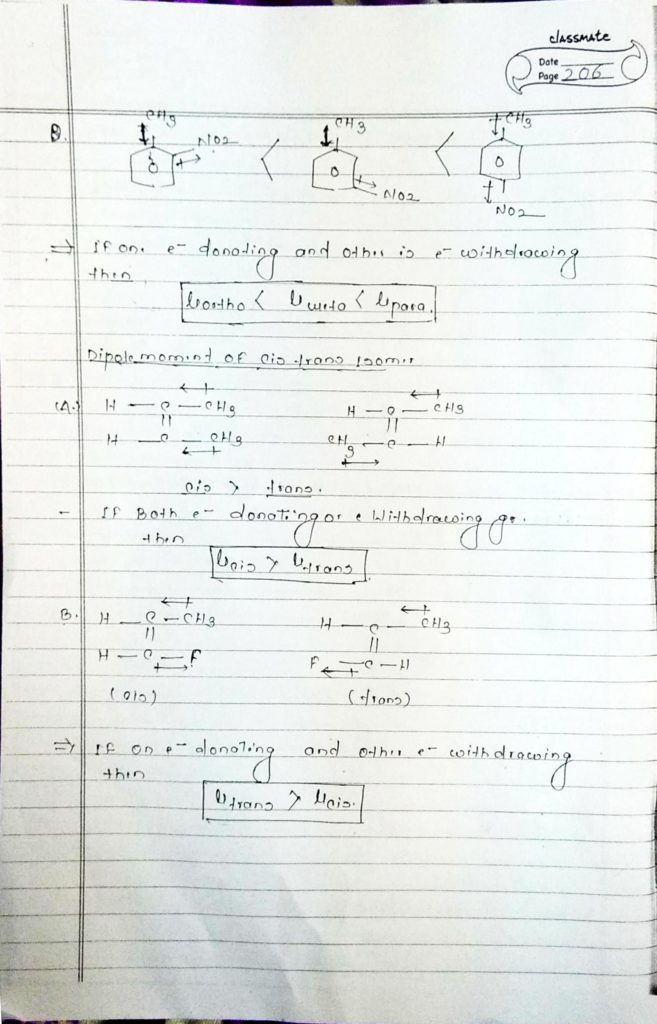 chemical bonding Dipole moment (8)