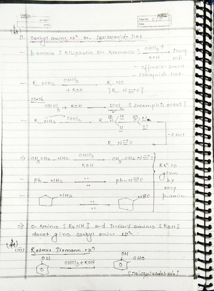hydrocarbon derivatives special reaction (6)