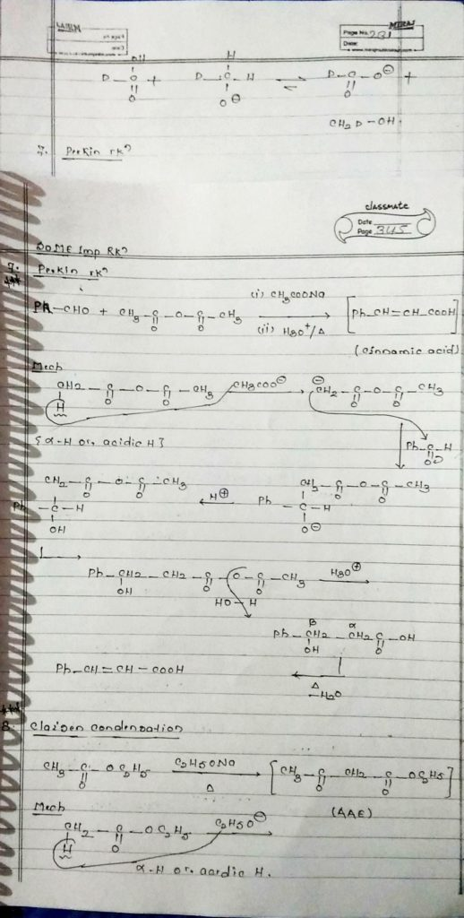 organic chemistry special reactions part 2 (1)
