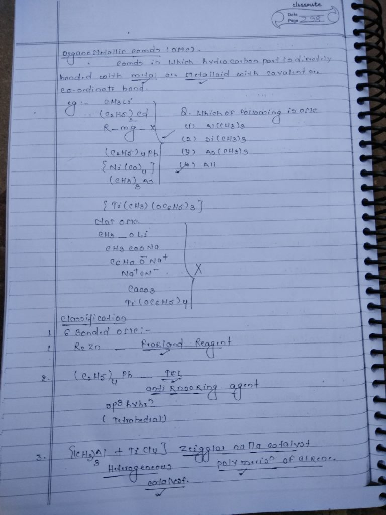 Coordination compound:Organometallic Compounds1