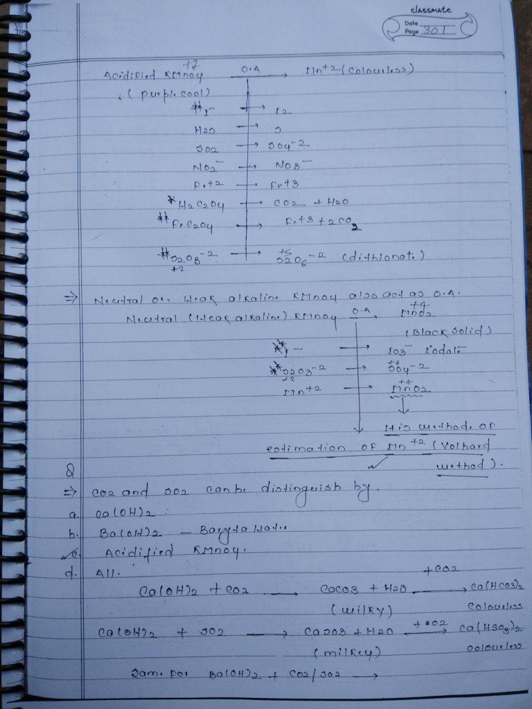 d block KMnO4 handwritten Notes2