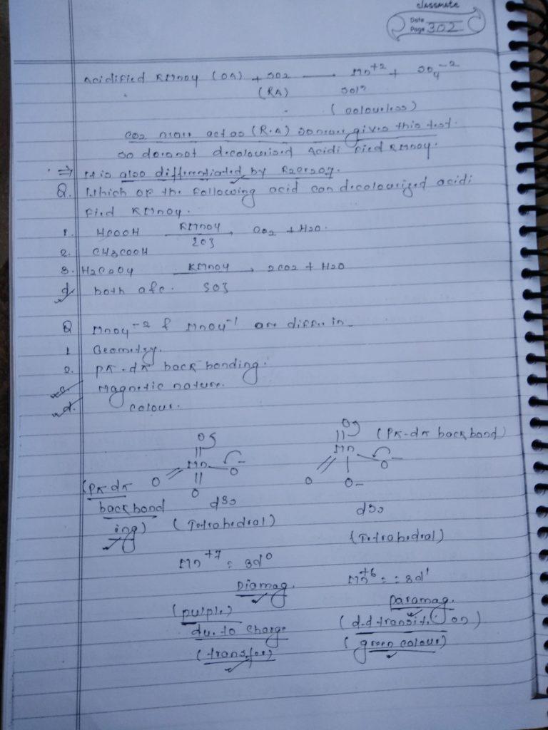 d block KMnO4 handwritten Notes3