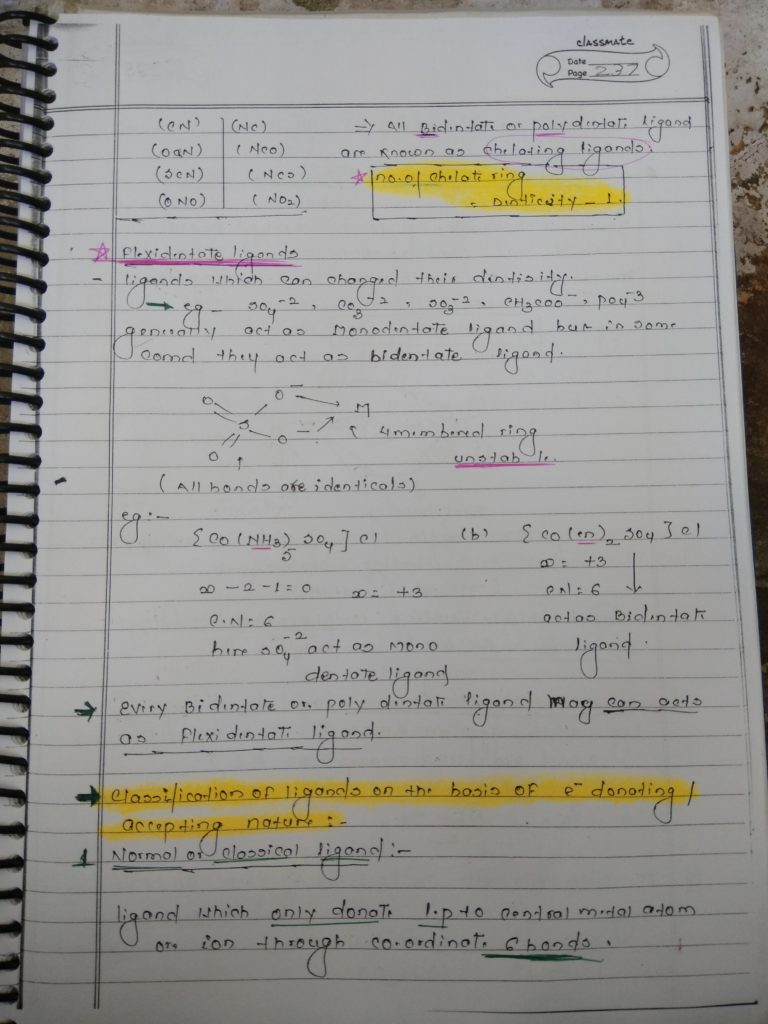 Ligands Notes 8