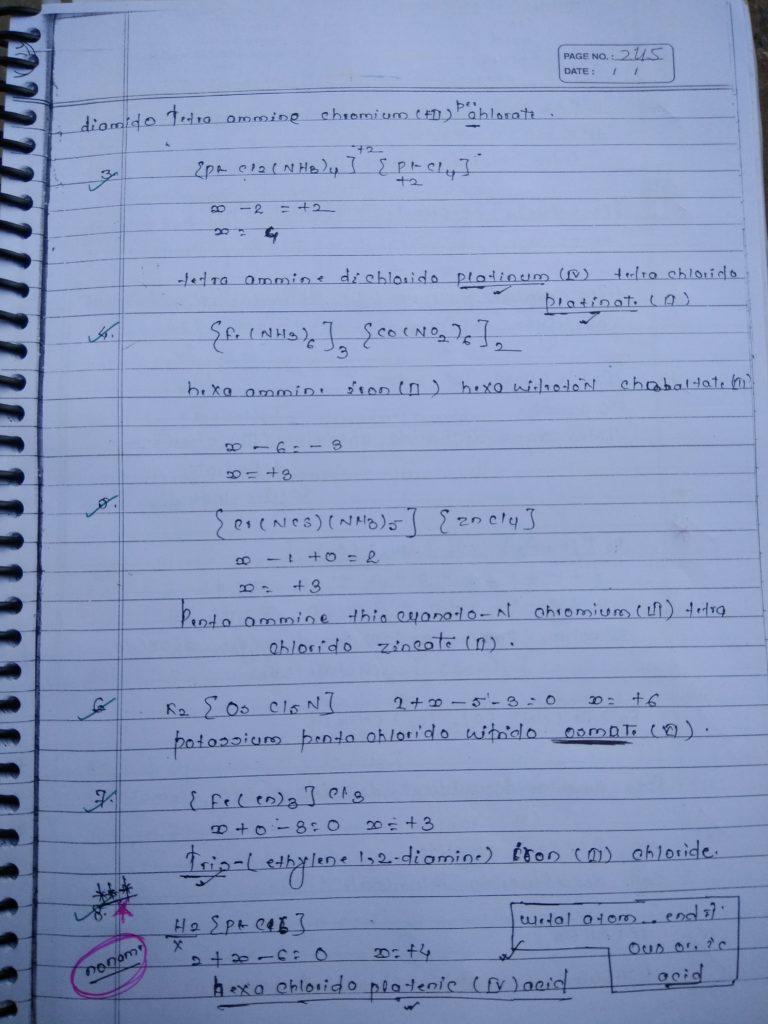Coordination compound NOMENCLATURE Notes 2