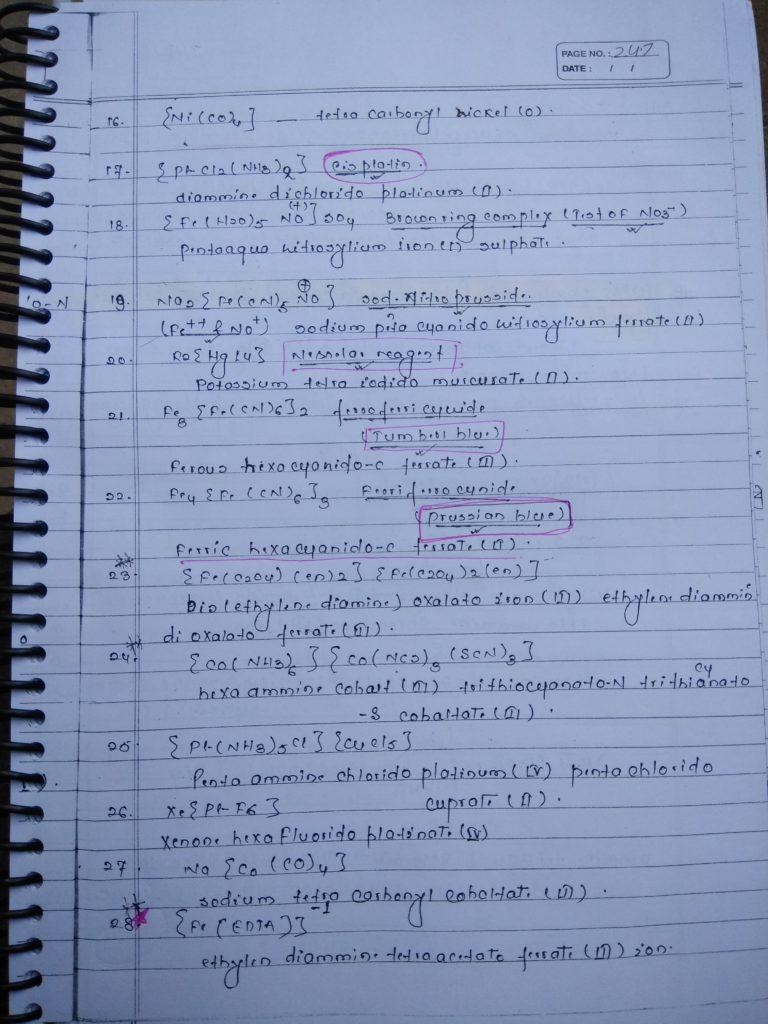 Coordination compound NOMENCLATURE Notes 4