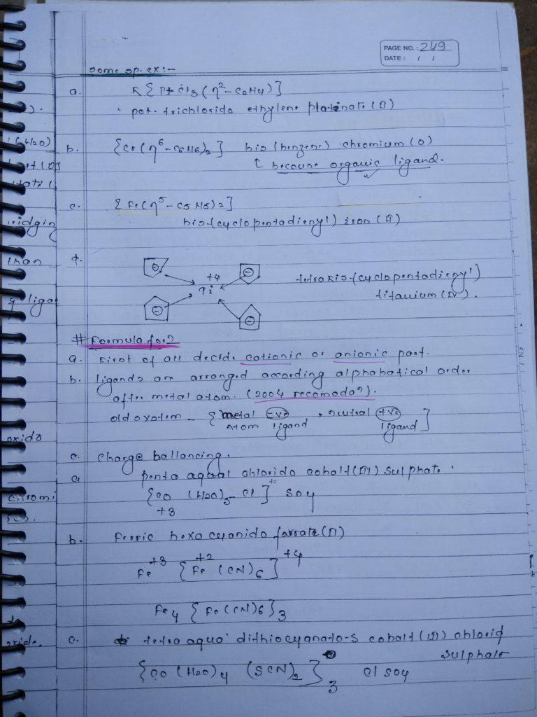 Coordination compound NOMENCLATURE Notes 6
