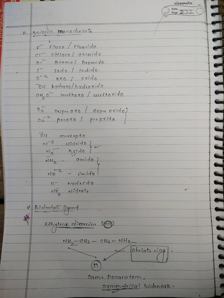 Ligands Notes 3