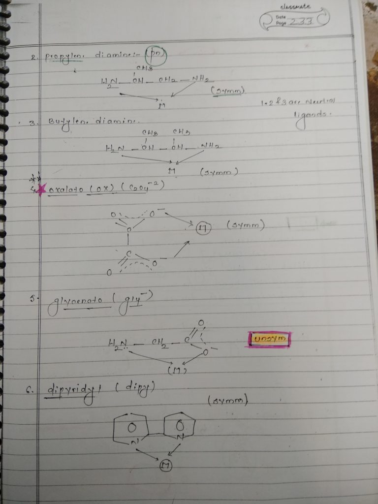 Ligands Notes 4