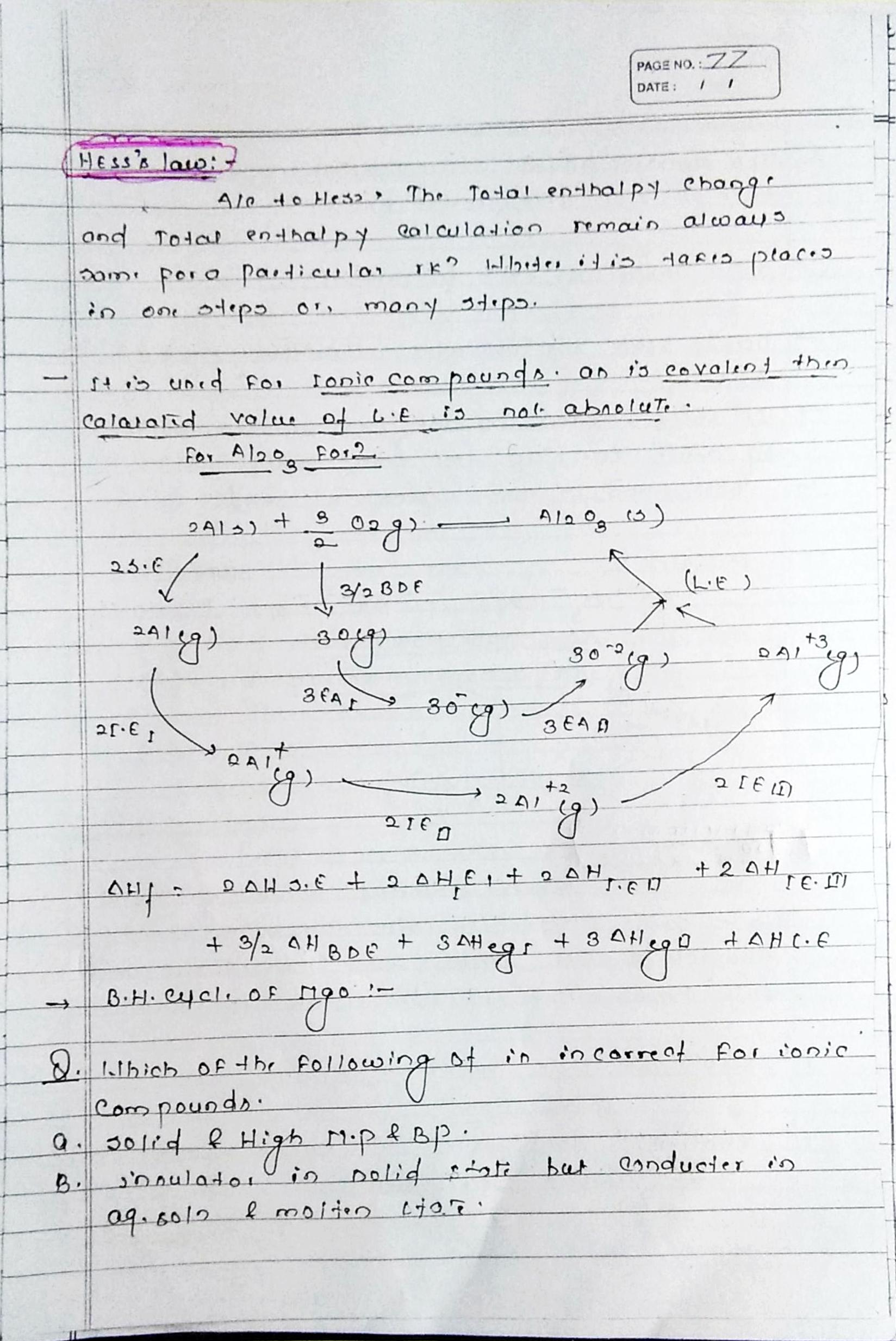 Chemical bonding ionic bonds notes handwritten notes for neeet and jee