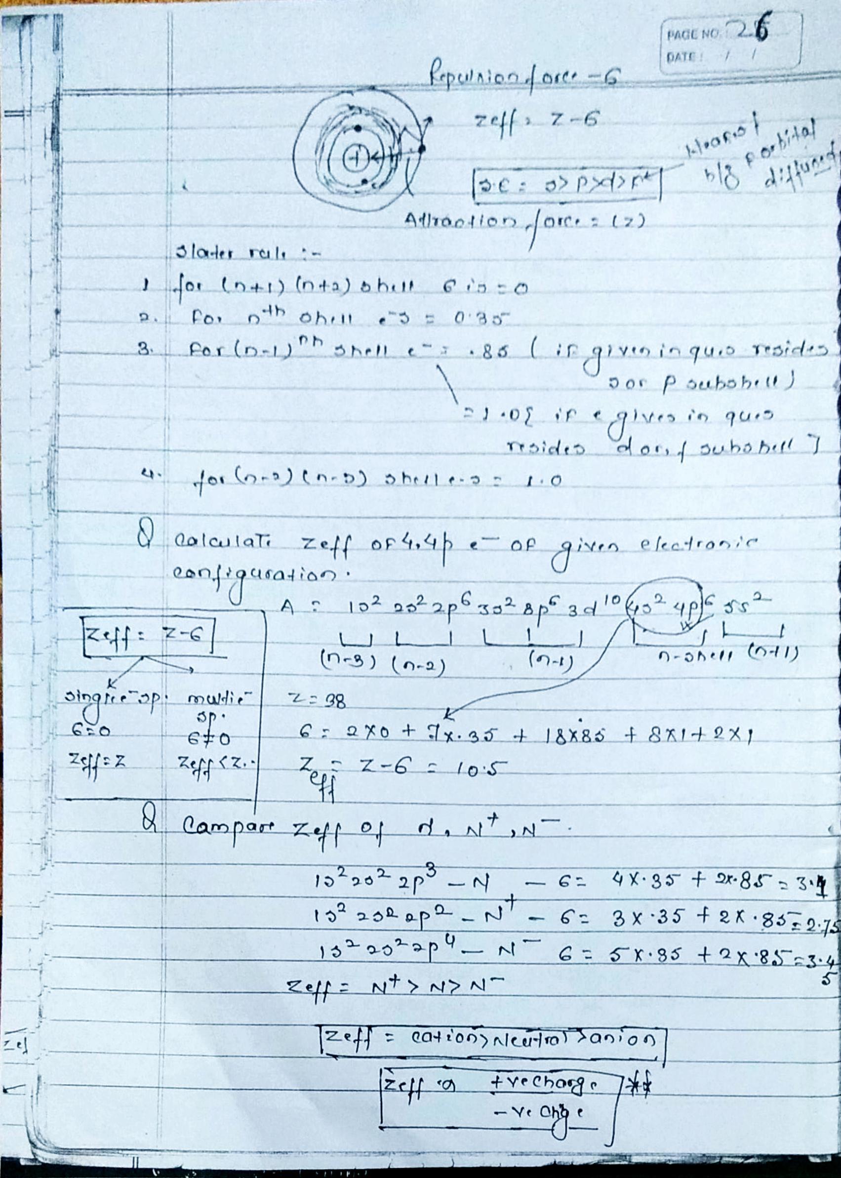 Z Notes Chemistry
