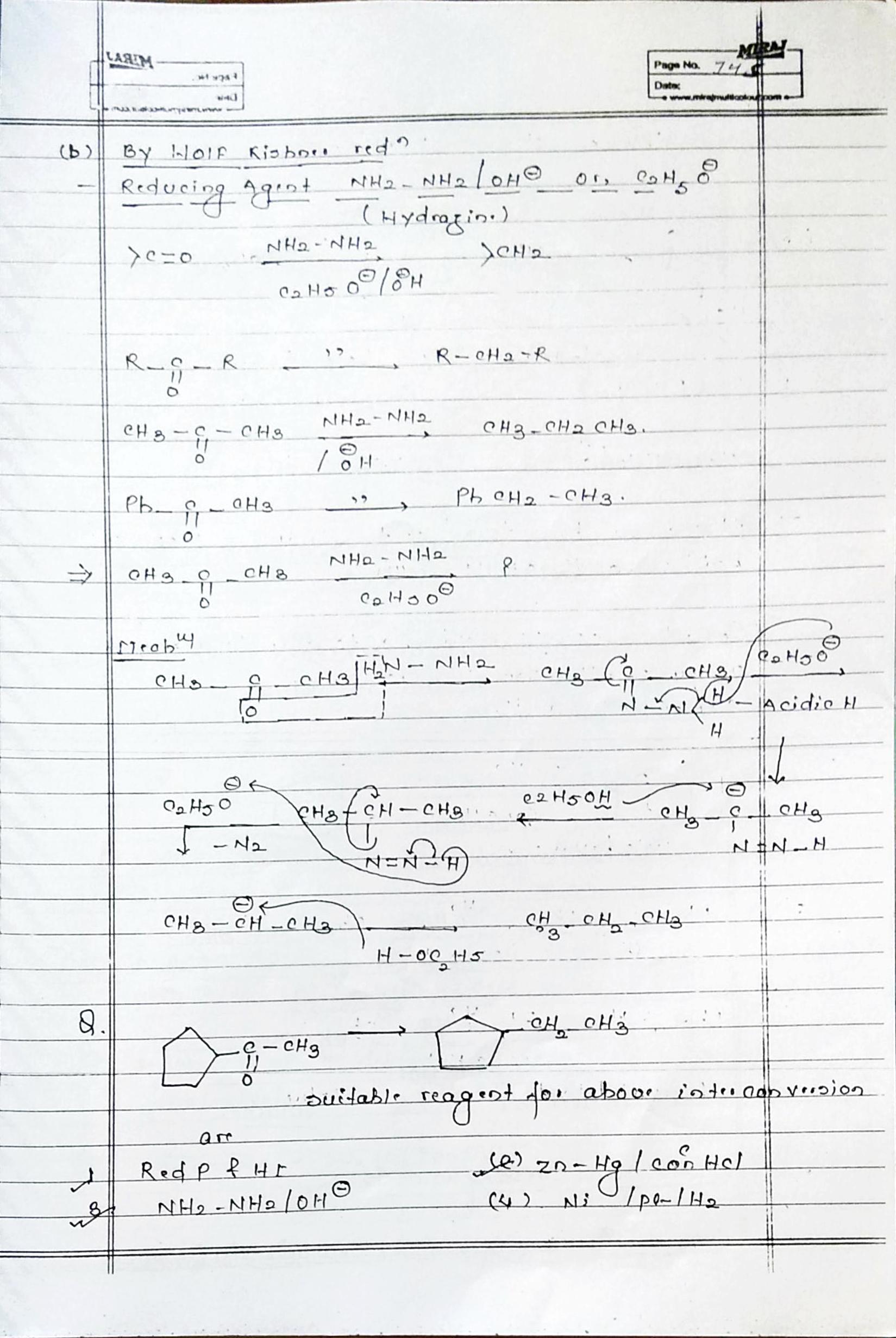 Organic Chemistry Hydrocarbon Alkane notes handwritten notes