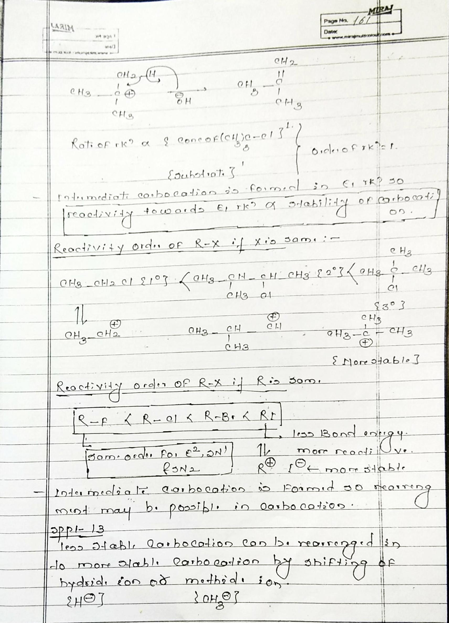 Organic Chemistry Hydrocarbon Alkene notes handwritten notes for