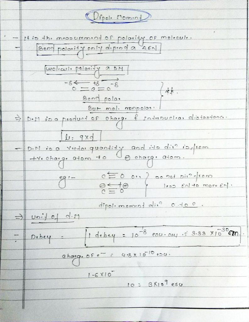 chemical bonding Dipole moment (1)