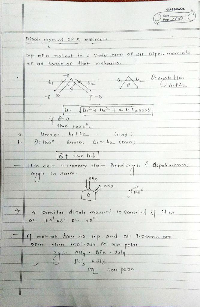 chemical bonding Dipole moment (2)