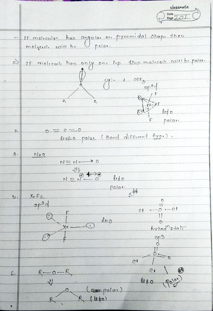 chemical bonding Dipole moment (3)