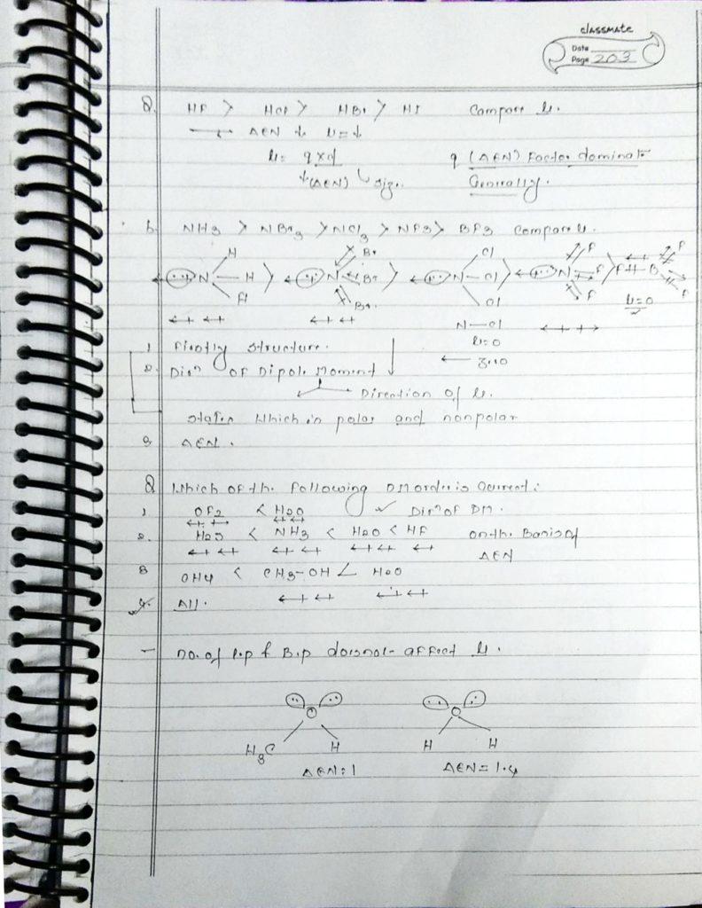 chemical bonding Dipole moment (5)