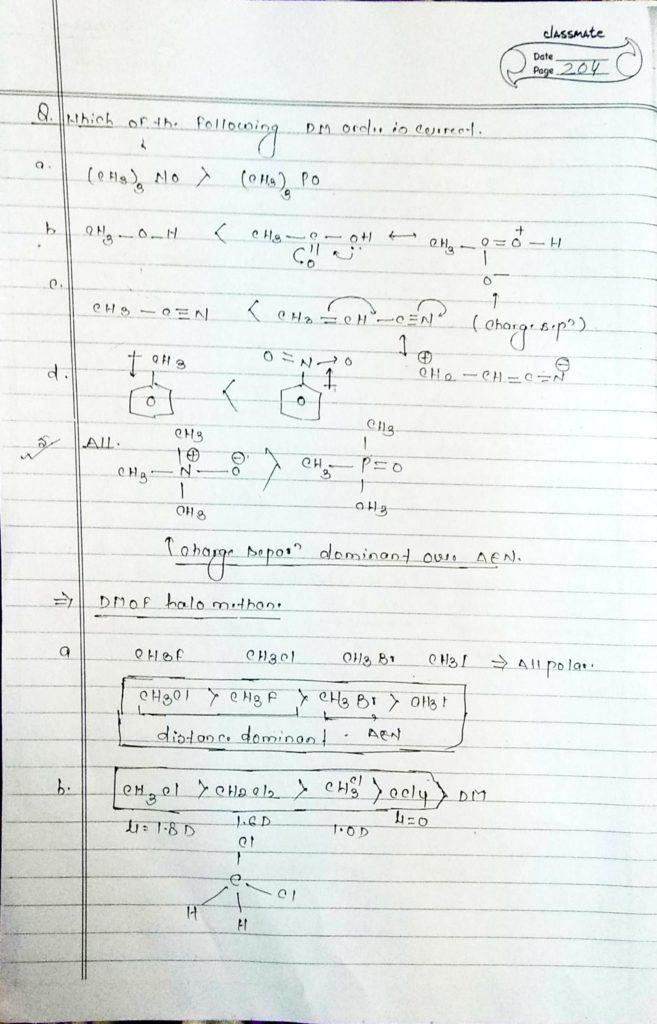 chemical bonding Dipole moment (6)