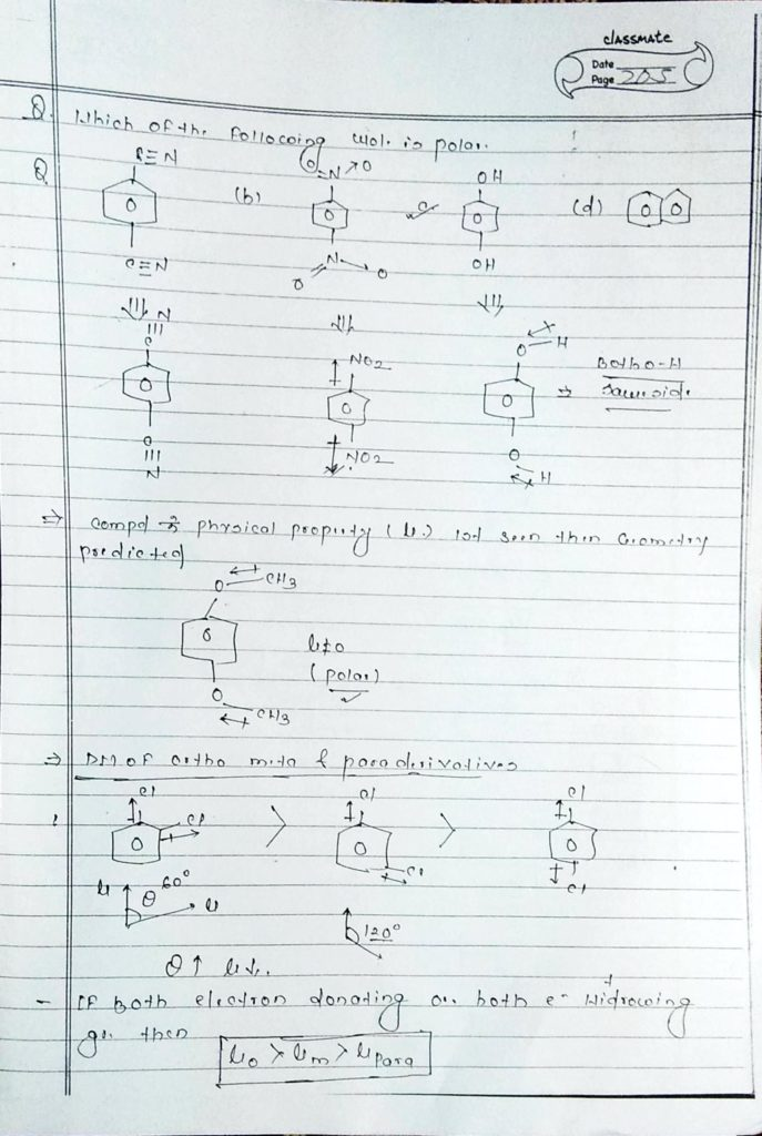 chemical bonding Dipole moment (7)