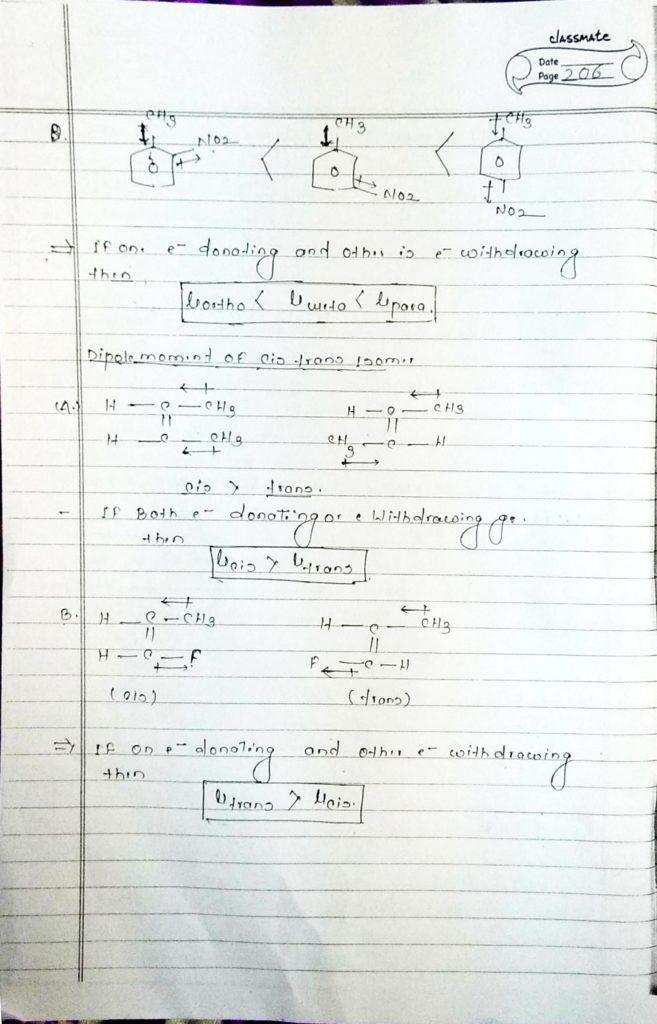 chemical bonding Dipole moment (8)
