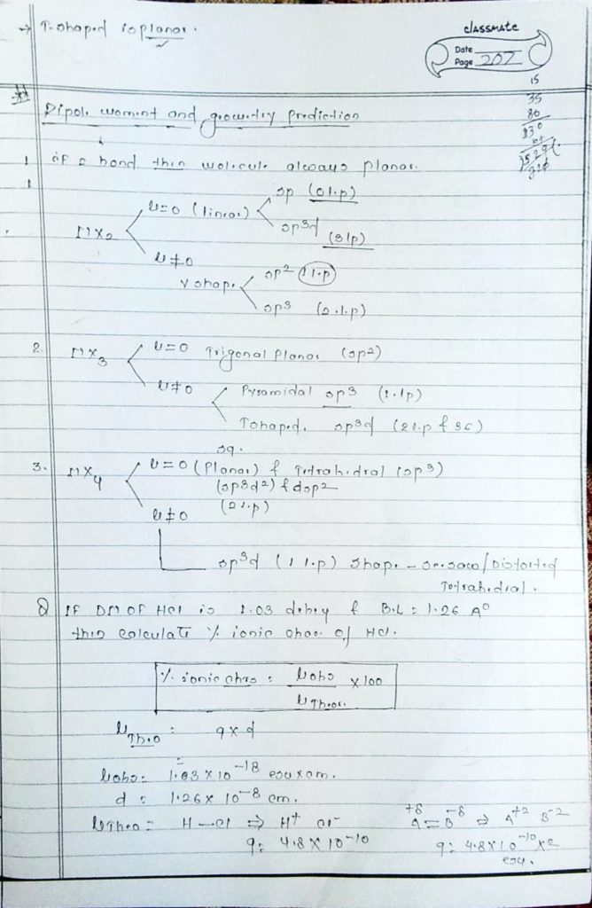 chemical bonding Dipole moment (9)