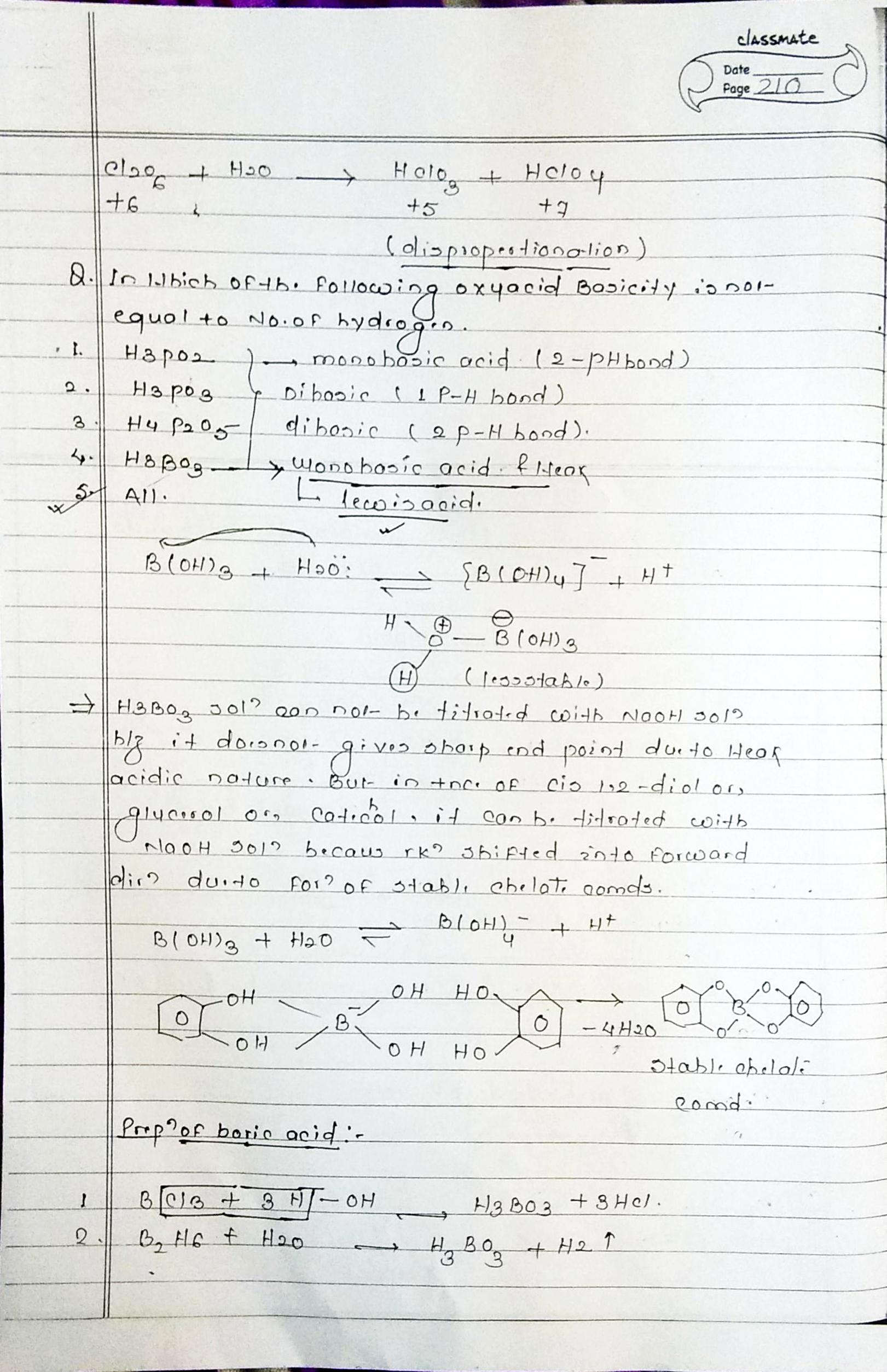 inorganic chemistry oxyacid neet notes handwritten note for