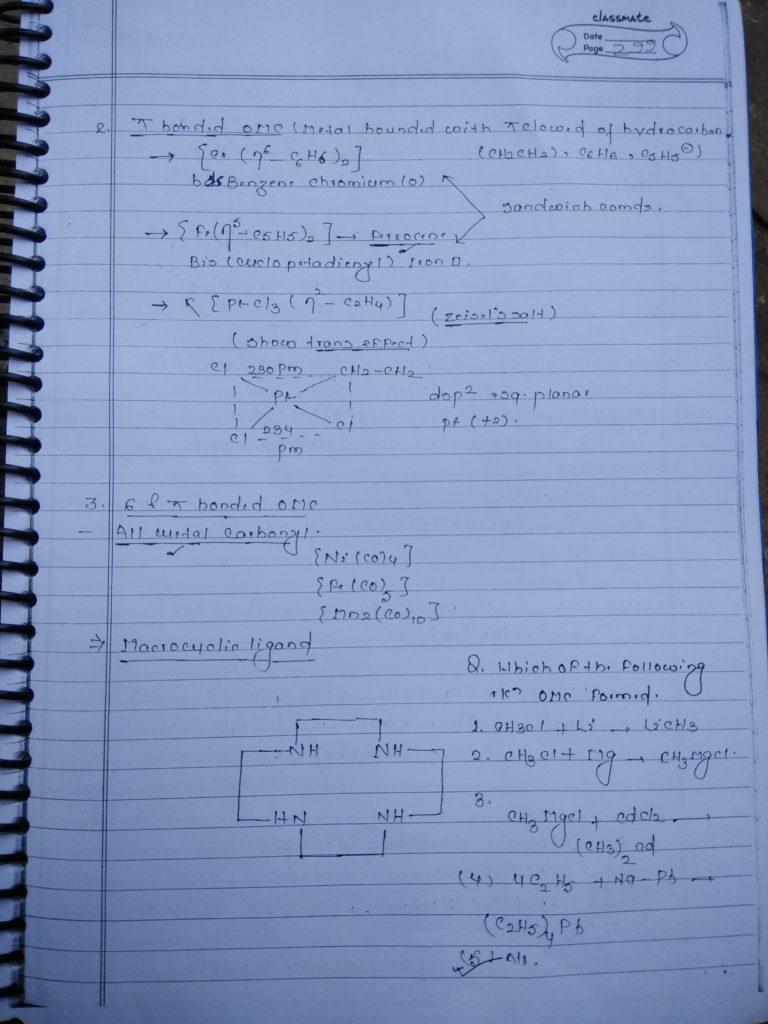 Coordination compound:Organometallic Compounds2