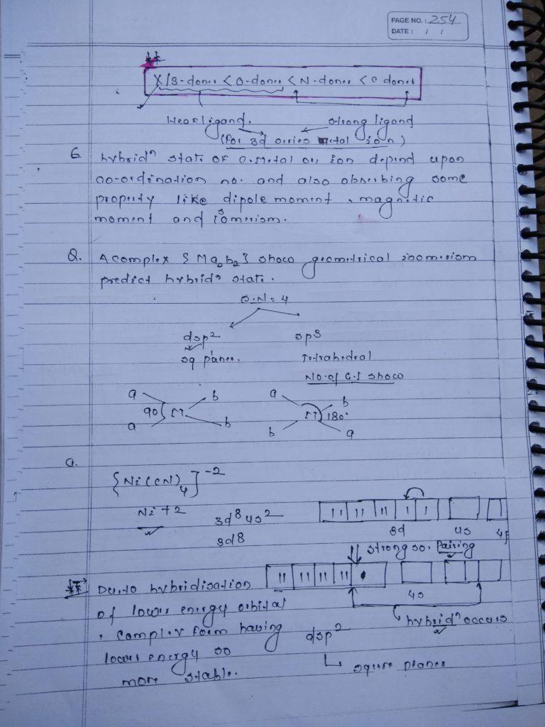 Coordination Bonding Notes 5
