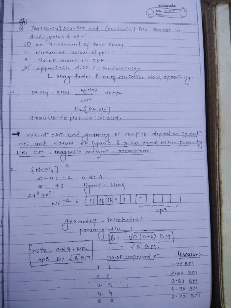 Coordination compound HYBRIDIZATION Notes3