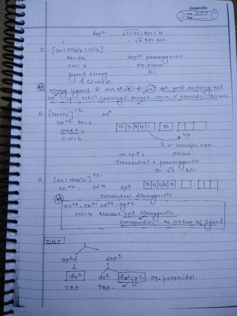 Coordination compound HYBRIDIZATION Notes5