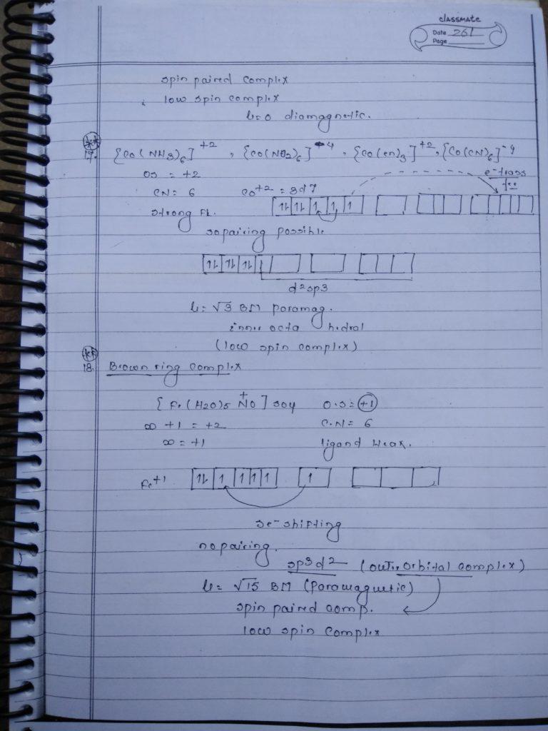 Coordination compound HYBRIDIZATION Notes9