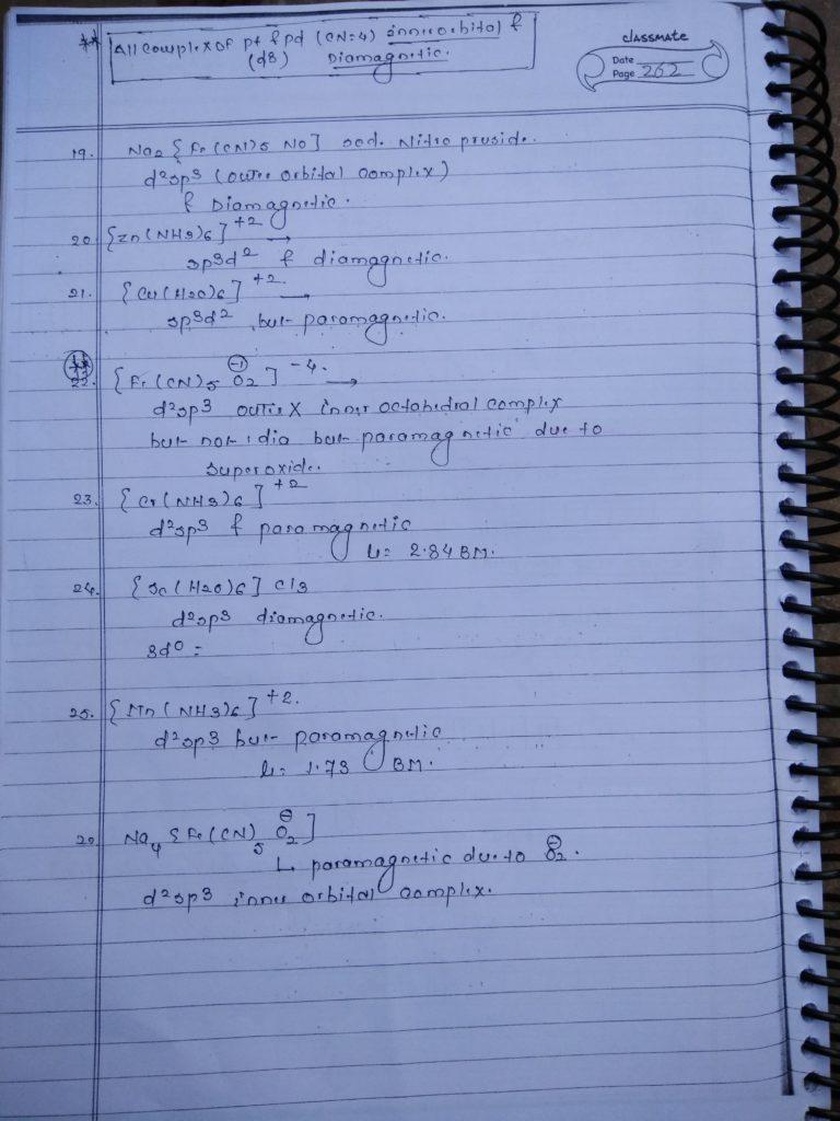 Coordination compound HYBRIDIZATION Notes10