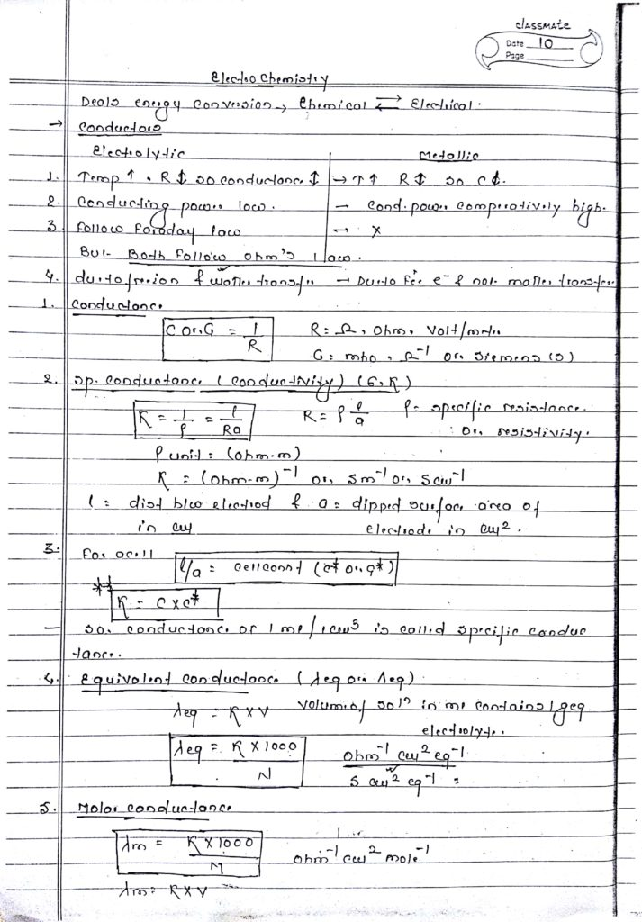 Electrochemistry handwritten notes 1