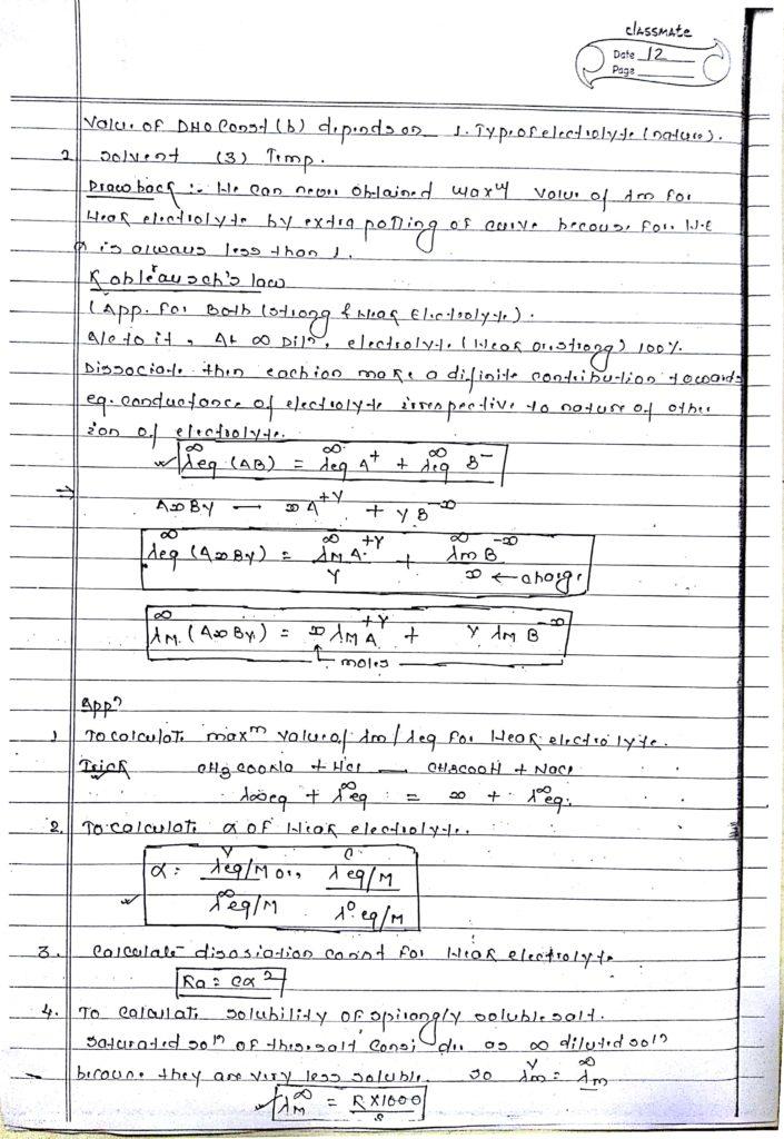 Electrochemistry handwritten notes