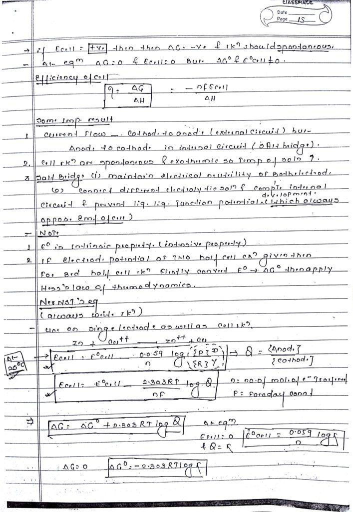 Electrochemistry handwritten notes 6