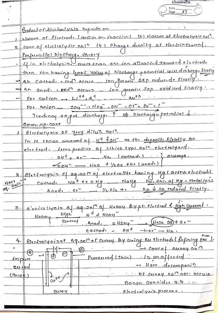 Electrochemistry handwritten notes 8