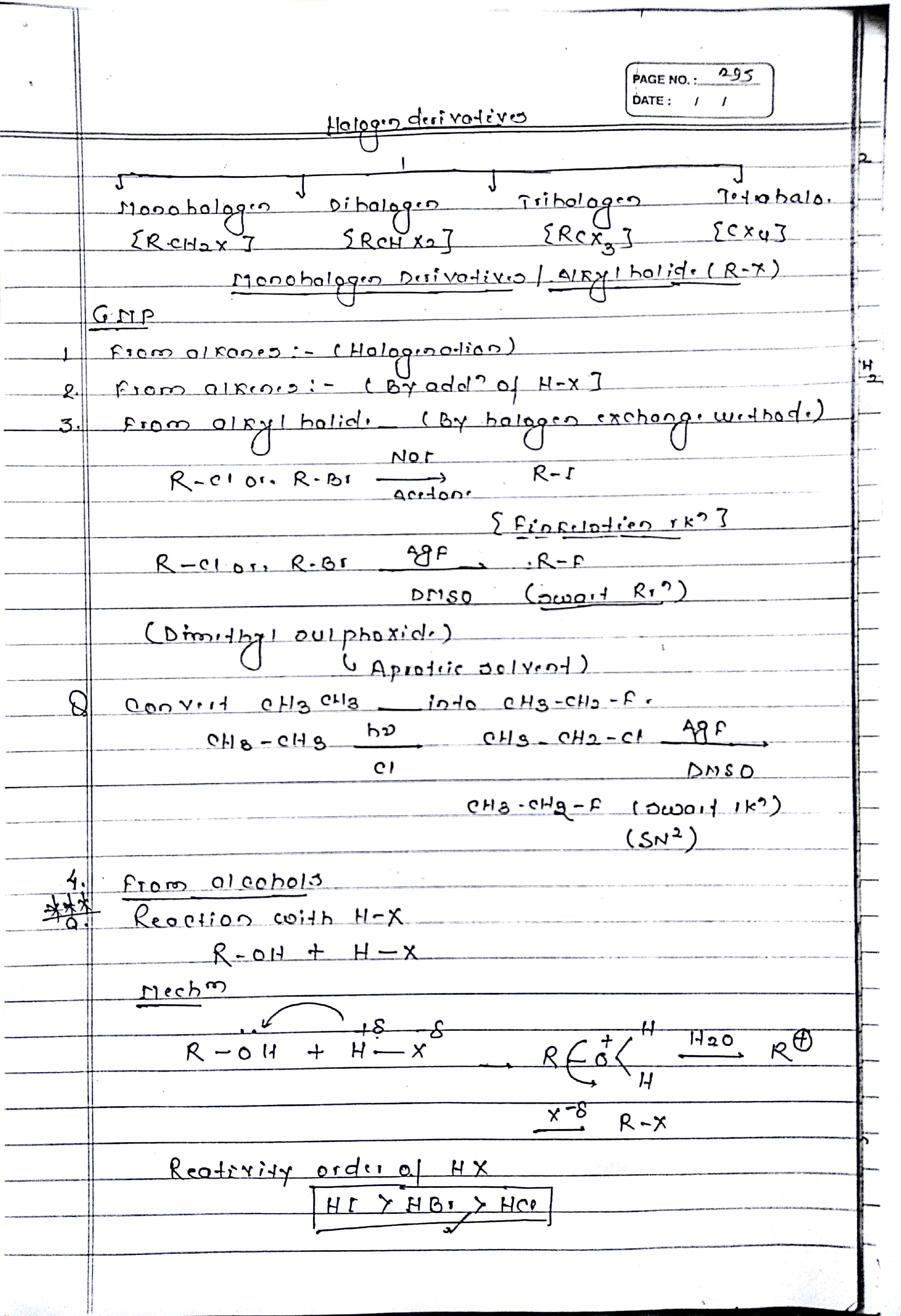 HALOGEN DERIVATIVES (1)