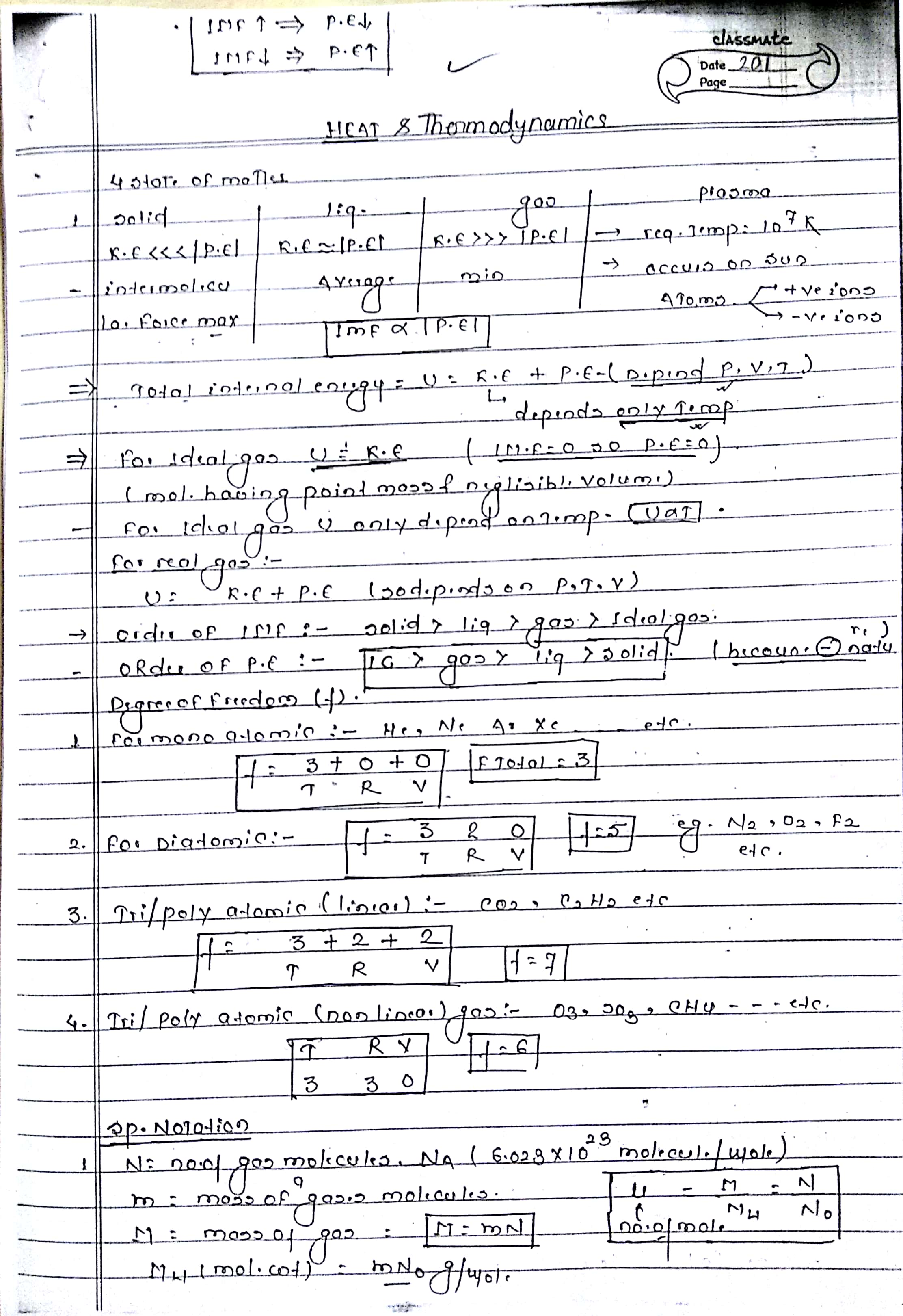 Thermodynamics Handwritten notes (1)