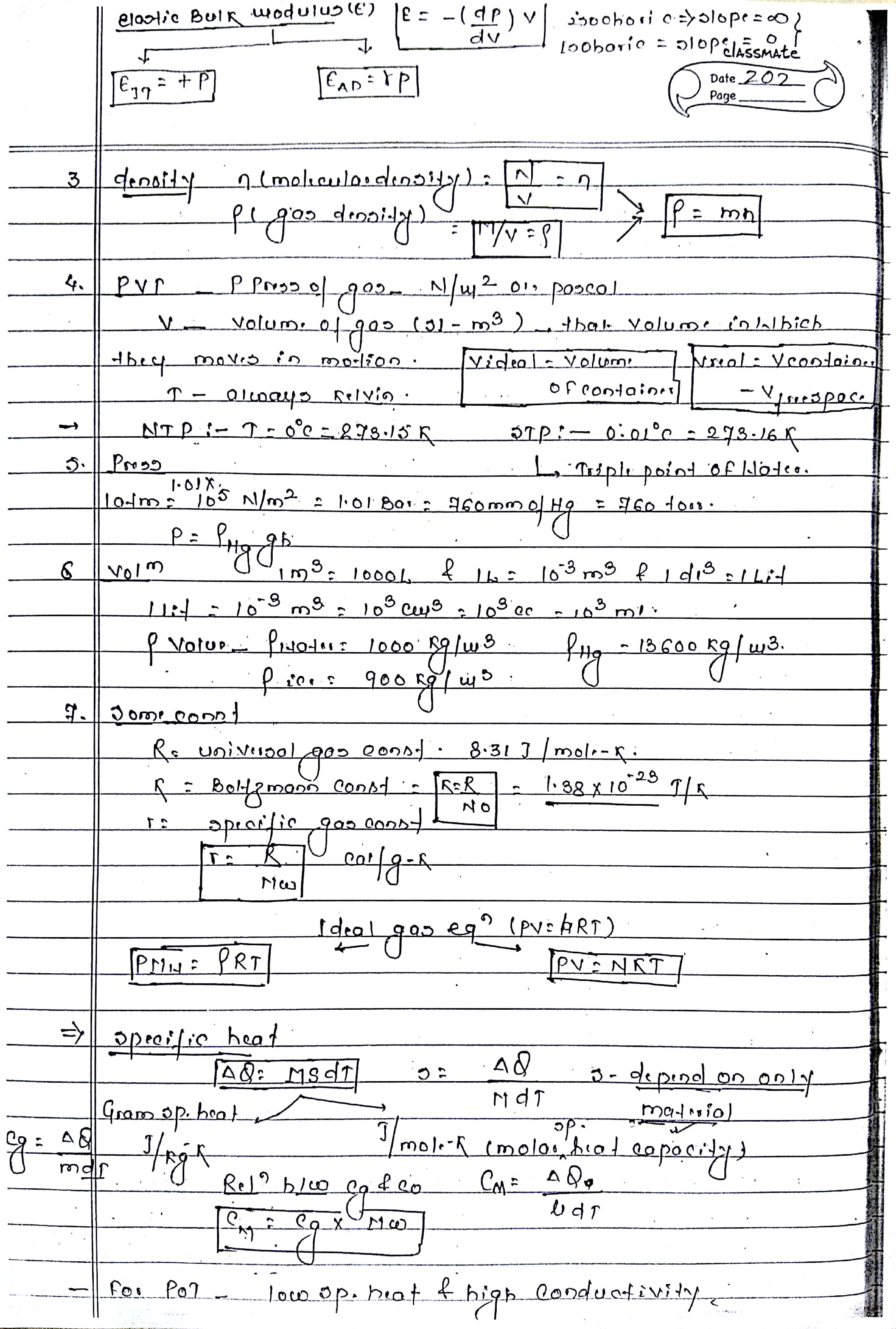THERMODYNAMICS HANDWRITTEN NOTES FOR NEET, AIIMS, IIT-JEE
